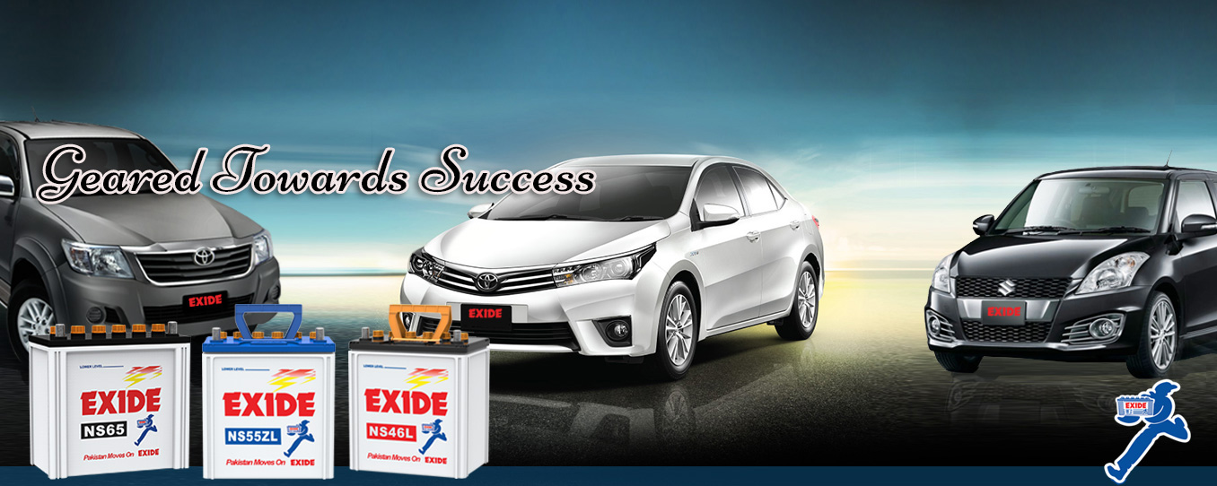 Exide Car Batteries Banner
