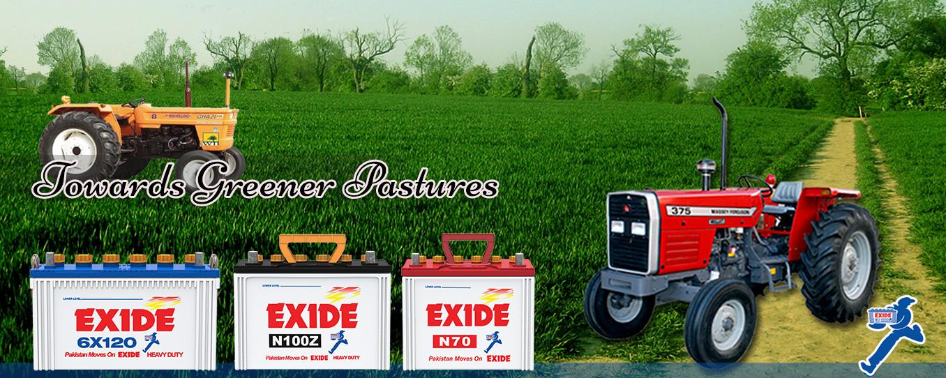 Exide Car Tractors Banner