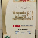 Certificate Brand of the year 2010